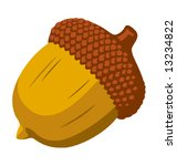 graphic illustration of an acorn | Shutterstock .eps vector #13234822