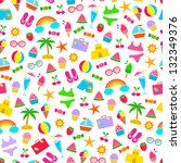 seamless pattern with colorful... | Shutterstock .eps vector #132349376