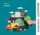 breaking news vector flat... | Shutterstock .eps vector #1323499988