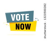 vote now tag label sign.... | Shutterstock .eps vector #1323500282