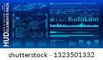 dashboard blue display virtual...