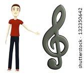 3d render of cartoon character...   Shutterstock . vector #132350642