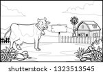 black and white coloring page...   Shutterstock .eps vector #1323513545