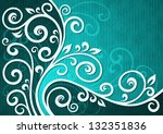 abstract cyan vector floral...
