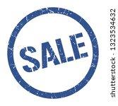 sale blue round stamp | Shutterstock .eps vector #1323534632
