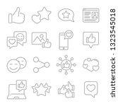 social network  network of... | Shutterstock .eps vector #1323545018
