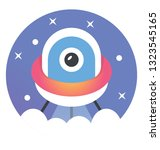 flat icon of ufo | Shutterstock .eps vector #1323545165