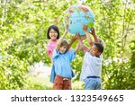 international children group as ... | Shutterstock . vector #1323549665