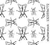 hawk moth seamless pattern... | Shutterstock .eps vector #1323556772