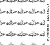 hawk moth seamless pattern... | Shutterstock .eps vector #1323556775