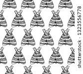 hawk moth seamless pattern... | Shutterstock .eps vector #1323556778