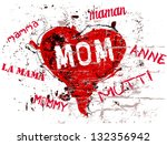 mother's day illustration  a... | Shutterstock .eps vector #132356942