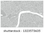 grey vector map of the city of... | Shutterstock .eps vector #1323573635