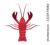 lobster flat icon.you can be... | Shutterstock .eps vector #1323574082