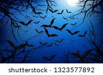 bats in the forest in the night | Shutterstock .eps vector #1323577892