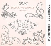 decorative floral corners.... | Shutterstock .eps vector #132358022