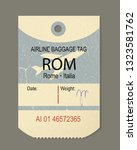 vintage luggage tag  retro... | Shutterstock .eps vector #1323581762