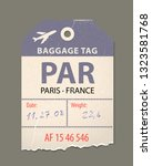 vintage luggage tag  retro... | Shutterstock .eps vector #1323581768