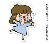 sticker of a cartoon woman in...   Shutterstock .eps vector #1323585545
