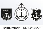 navy badges set. marine patches ... | Shutterstock .eps vector #1323593822