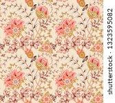 traditional oriental seamless... | Shutterstock .eps vector #1323595082