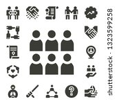 cooperation icon set. 17 filled ... | Shutterstock .eps vector #1323599258