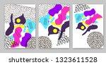 geometric backgrounds. memphis... | Shutterstock .eps vector #1323611528