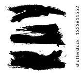 set of black ink hand drawn... | Shutterstock .eps vector #1323611552