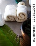 spa and wellness. fresh towels...   Shutterstock . vector #1323613055