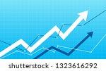 stock market up arrows | Shutterstock .eps vector #1323616292