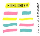 yellow highlighter marker... | Shutterstock .eps vector #1323618785
