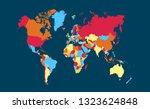 world map vector | Shutterstock .eps vector #1323624848