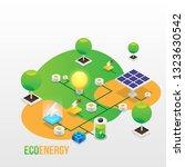 power grid elements. energy... | Shutterstock .eps vector #1323630542