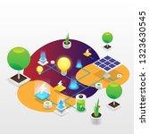 power grid elements. energy... | Shutterstock .eps vector #1323630545