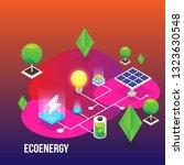 power grid elements. energy... | Shutterstock .eps vector #1323630548