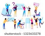 international people. diversity ... | Shutterstock .eps vector #1323633278