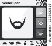 long stubble beard style. beard ...   Shutterstock .eps vector #1323633815