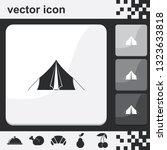 tourist tent flat set of...   Shutterstock .eps vector #1323633818