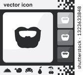 circle beard style. beard and...   Shutterstock .eps vector #1323633848