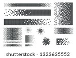 dissolved filled square dotted... | Shutterstock .eps vector #1323635552