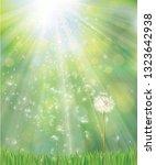 vector of spring background... | Shutterstock .eps vector #1323642938