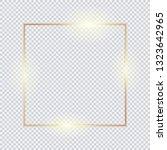 gold square frame  golden... | Shutterstock .eps vector #1323642965