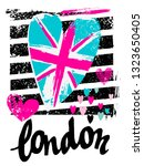 london to print t shirts. hand... | Shutterstock .eps vector #1323650405