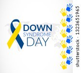 world down syndrome day on 21... | Shutterstock .eps vector #1323651965