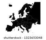 vector file of europe map with... | Shutterstock .eps vector #1323653048
