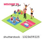 welcome to open air music fest... | Shutterstock .eps vector #1323659225