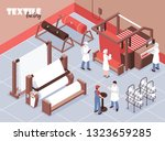 textile factory staff and... | Shutterstock .eps vector #1323659285