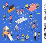 family playing isometric... | Shutterstock .eps vector #1323661778