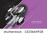 technology abstraction in retro ... | Shutterstock .eps vector #1323664928