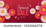 spring sale background with... | Shutterstock .eps vector #1323666578
